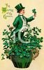 Vintage St. Patrick's Day Postcard-The Wearing of the Green clipart