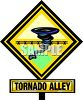 Tornado Alley Weather Warning Sign clipart