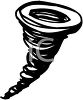 Black and White Clipart of a Tornado clipart