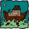Cartoon of Noahs Ark clipart