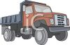 Dump Truck with a Red Cab clipart