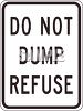 No Dumping Sign clipart