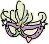 Mardi Gras Mask with Stars clipart