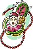 Mardi Gras Masks and Beads clipart