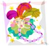 Mardi Gras Costume with Beads clipart
