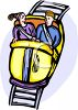 Man and His Date on a Roller Coaster clipart