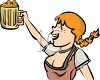 Oktoberfest Bar Maid clipart
