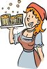 German Tavern Maid clipart