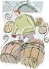 Wine Maker Testing Samples clipart