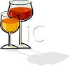 Glasses of Wine clipart