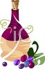 Grapes and Chianti clipart