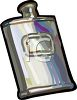 Silver Flask clipart