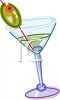 Martini with an Olive clipart