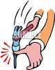 Man Hitting His Thumb with a Hammer clipart