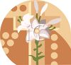 White Easter Lilies clipart