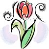 Red Tulip Design clipart