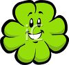 Smiling Four-Leaf-Clover clipart
