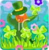 Leprechaun in a Field of Clover clipart