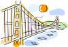 Famous Bridge in San Francisco clipart