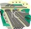 Freeway Overpass clipart