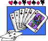 Playing Cards Fanned Out clipart