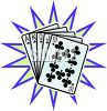 Straight Flush Poker Hand clipart
