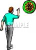 Man Playing Darts clipart