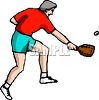 Man Playing Racquetball clipart