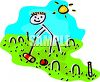 Stick Figure Playing Croquet clipart