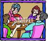 Group of Ladies Playing Cards clipart