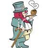 Sophisticated Leprechaun Smoking a Pipe clipart