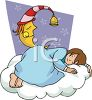 Little Girl Sleeping on a Cloud  clipart