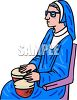 Nun Playing Bongo Drums clipart