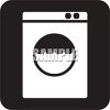 Black and White Water Icon-Washing Machine clipart