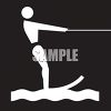Outdoor Recreation Icons-Water Skiing Area clipart