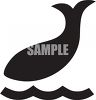 Animal Silhouette-Whale clipart