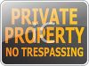 Private Property-No Trespasing Sign clipart