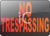 No Trespassing Sign clipart