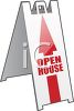 Open House Sandwich Board Sign clipart