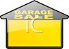 House Shaped Garage Sale Sign clipart