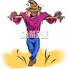 Creepy Looking Scarecrow clipart