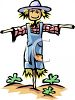 Cute Scarecrow Wearing Overalls clipart