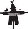 Silhouette of a Scarecrow clipart