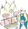 Pig Farmer Feeding His Hogs clipart
