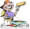Female House Painter clipart