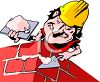 Bricklayer Working clipart