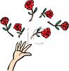 Hand Throwing Roses clipart