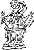 Handyman with Many Arms clipart