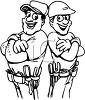 Two Construction Workers clipart