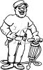 Man Using a Jackhammer clipart